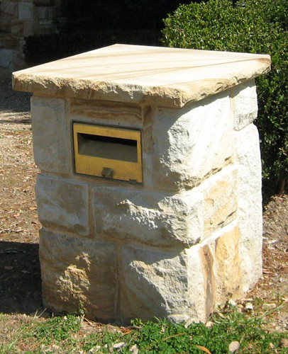 Sandstone-letterbox