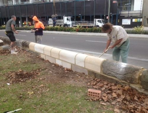 Sandstone restoration for Botanic gardens in Sydney